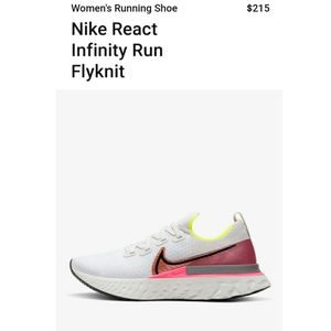💗NWT💗- Nike Infinity fly knit - womens size - 7
